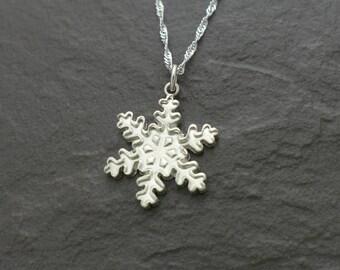 Fine Silver Snowflake Pendant