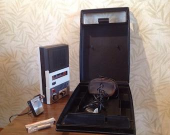 Vintage Craig tape recorder, retro portable tape recorder, tape recorder with case