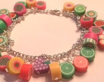 Fruity charm bracelet!