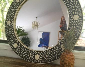 Beautiful Bone Inlay Mirror