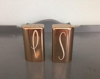 Gold Anodized Aluminum Salt & Pepper Shakers