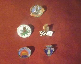 5 vintage royal order of jesters pins