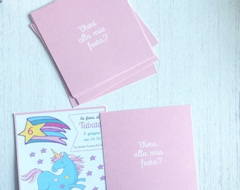 Birthday invitation cards 13x13cm