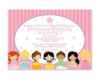 Disney Princess Inspired Birthday Invitation