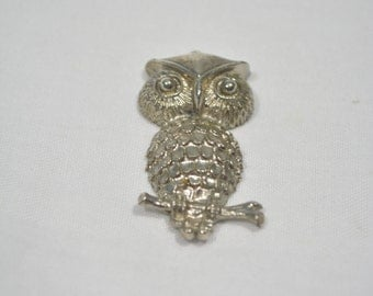 Small Silver Color Owl Necklace Charm
