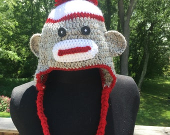 Handmade Sock Monkey Hat
