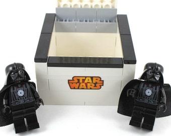 Handmade Novelty Star Wars Darth Vader Cufflinks with Lego Bricks Box