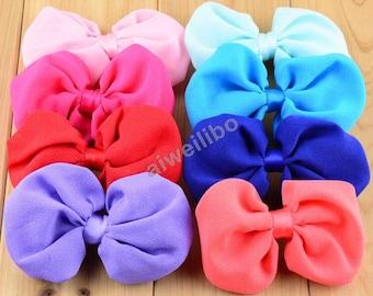 Chiffon Bows,Wholesale Chiffon Bow , Fabric Bows,Diy Hair Accessories Supplies