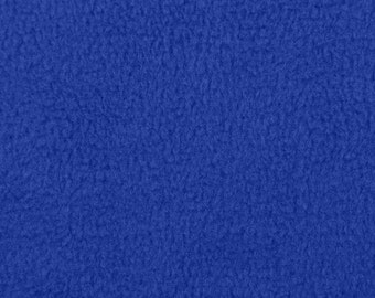 Royal Blue Fleece Fabric - by the yard
