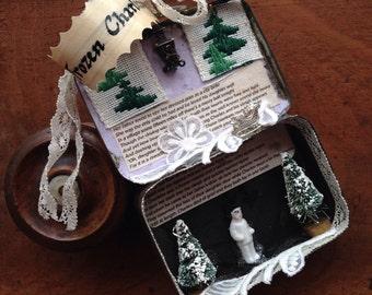 Miniature Frozen Charlotte Curio Assemblage