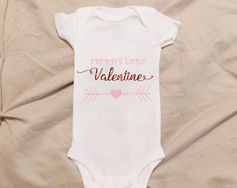 Mommy's Little Valentines, Valentine's Day Onesie, Valentine's Day Baby, Mommy's Valentines, Daddy's Valentine, ANY COLOR