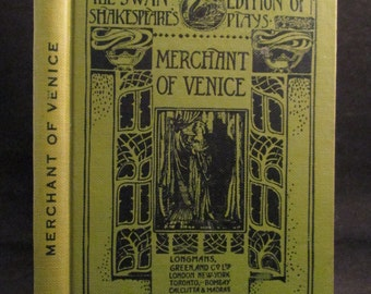 The Merchant of Venice by William Shakespeare 1932 Illustrated Drama Vintage Book