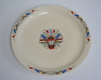 Collectable art nouveau style plate by Gustavsberg (Mora), Sweden