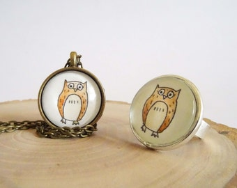 Forest Critters - Pendnt - Owl