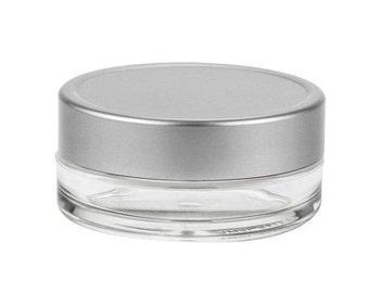 6 Sets of 15 mL Clear Cosmetic Jars + Aluminum Lids w/ PE Liner