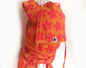 SALE 20% OFF Mei Tai - Daiesu Sakura Spring Linen - Mei Tai Baby Carrier - Woven Baby Wrap - Baby Carrier - Wrap Conversion Mei Tai