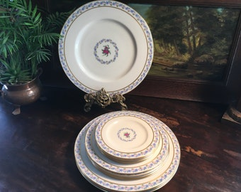 """Vintage """"Fairmont"""" Lenox Service for 4 Dinner, Salad, Bread and Butter Plates"""