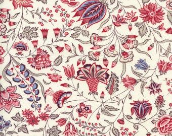 Swatch indienne fabric motif 6 on ecru base - 50x55cm