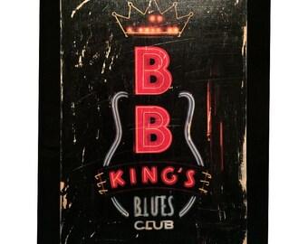 BB Kings, Beale Street Photo Transfer -Memphis
