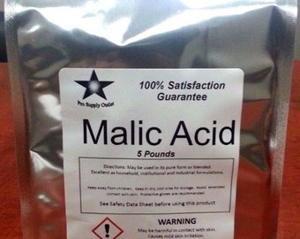 Malic Acid FCC/ Food Grade 1 Lb Pack 9904