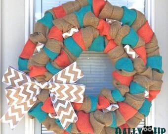 Teacher Burlap Wreath, Everyday Wreath, Spring Burlap Wreaths, Wreath for All Year, Teacher Gift, Teacher Wreath, Summer Teacher Wreath