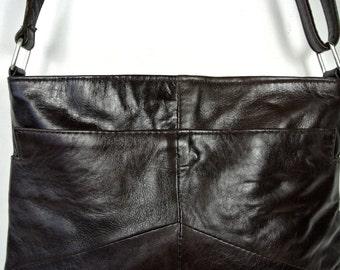Medium Ladies soft foxy brown Leather Shoulder Bag.