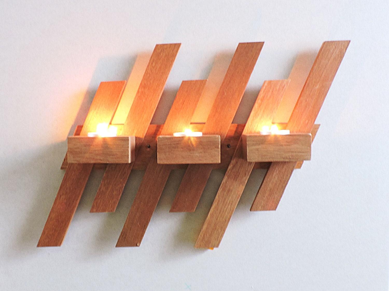 wand kerzenhalter wand holz kerzenst nder wandleuchten. Black Bedroom Furniture Sets. Home Design Ideas