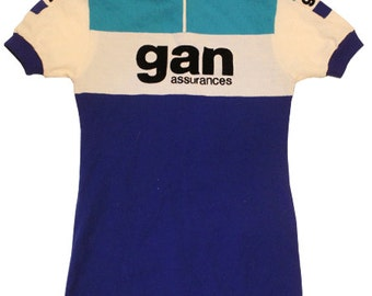 70's vintage Deadstock gan vintage cycle jersey made in France