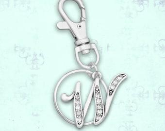 W Initial Keychain Zipper Pull - 54403