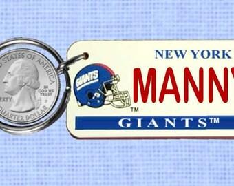 Personalized New York Giants keychain - key ring (Giants)