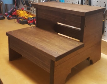 Custom Handmade Wooden Toddler Step Stool or Time-Out Chair