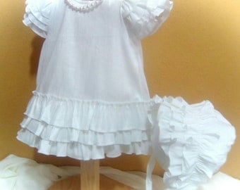 Dress for the girl, Newborn christening dress, Baptism dress, baby dress, elegant dress, girl christening