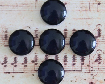 Handmade Black Photo Glass Cabochon 10mm 12mm 14mm 15mm 16mm 18mm 20mm 25mm 30mm Glass Cabs Cabochons -694X12