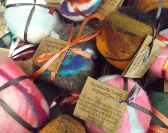 Hand Felted Soap-multi color