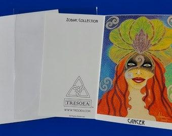 CANCER - Zodiac Greeting Card - 5X7