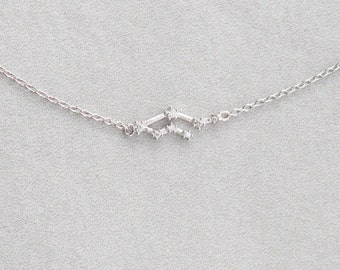 Gemini Sterling Silver Necklace - 020600013