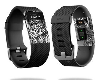 Skin Decal Wrap for Fitbit Blaze, Charge, Charge HR, Surge Watch cover sticker Chrome Water