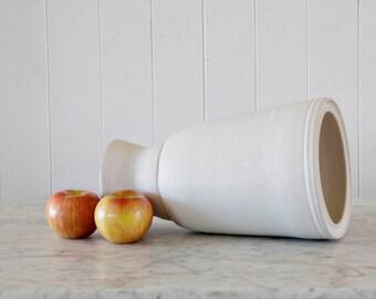 Eggshell White Pedestal Vase