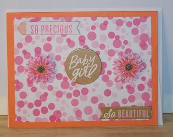 Baby Girl - Flowers Card