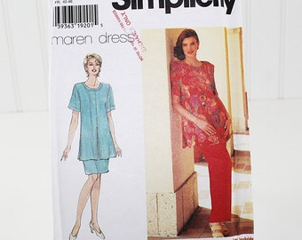 Tunic, Skirt and Pants Sewing Pattern, Uncut Sewing Pattern, Simplicity 7250, Size 14,16,18