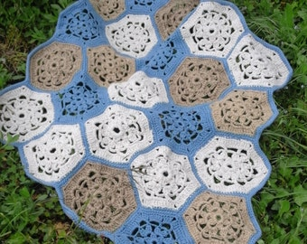 Handmade crochet craft new carpet