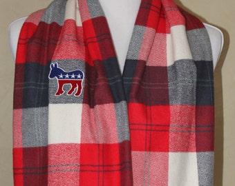 Patriotic Democrat Donkey Infinity Scarf