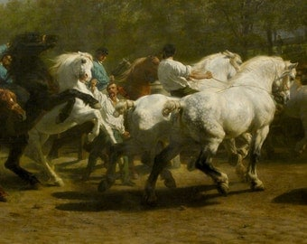 Rosa Bonheur: The Horse Fair. Fine Art Print/Poster (001607)