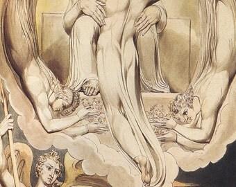 William Blake: Cristo como el Redentor del hombre fino arte impresión/cartel (00451)