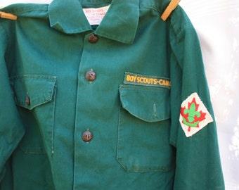 Vintage Boy Scouts Shirt - Vintage Boy Scouts Uniform - Official Boy Scouts Shirt , Boy Scouts of Canada