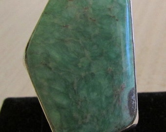 Sterling Silver and Variscite Ring Signed The Dreamer