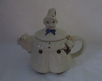 Shawnee Teapot Tom the Piper's Son Mint Condition Mid century Tea Pot