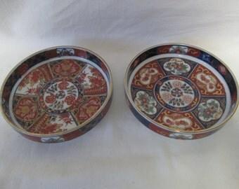 Vintage Japanese Imari Pair of shallow bowls