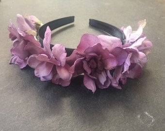 flower headband | pale purple