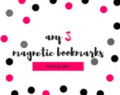 Any 3 Individual Magnetic Bookmarks/Planner Page Finders